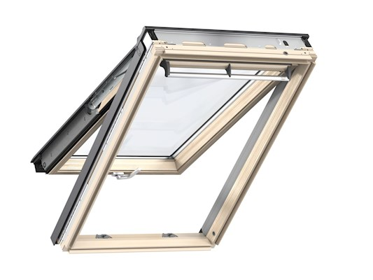 VELUX GPL Pine Top hung window open inside