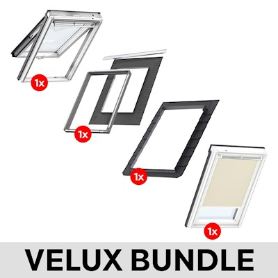 VELUX GPL MK04 White Painted Top Hung Window & Beige ...