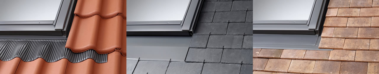 VELUX flashing kits are suitable for different roofing materials