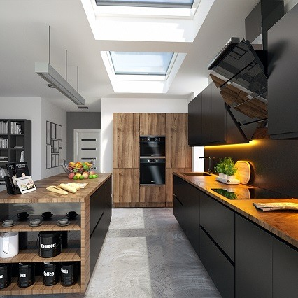 eco plus rooflights installed in kitchen area