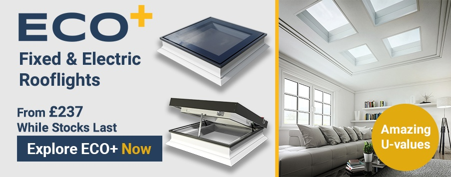 ECO Plus 45x85 Flat Glass Rooflight