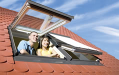 top hung roof windows