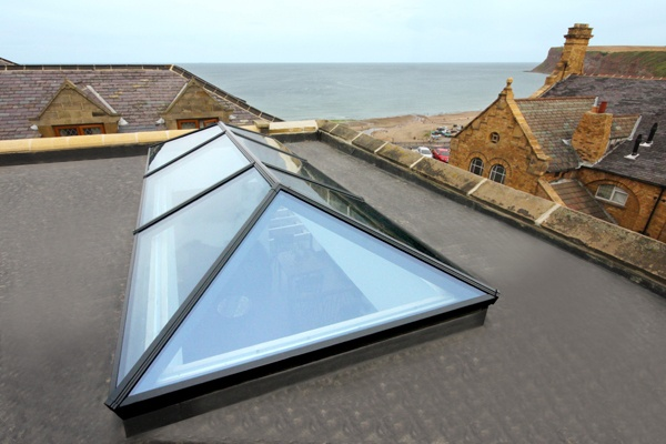 roof lantern exterior as installed on roof