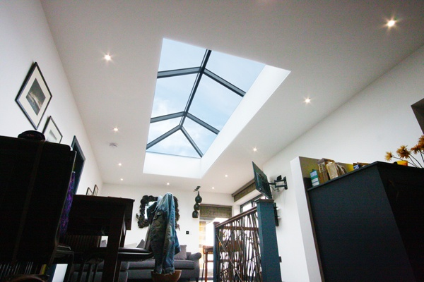 long korniche roof lantern with grey frame