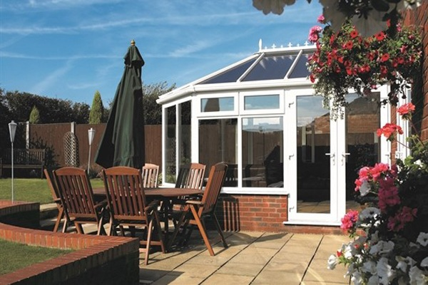 uPVC French doors for conservatory
