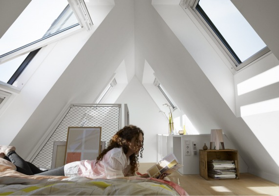 VELUX white noise reduction windows in loft conversion