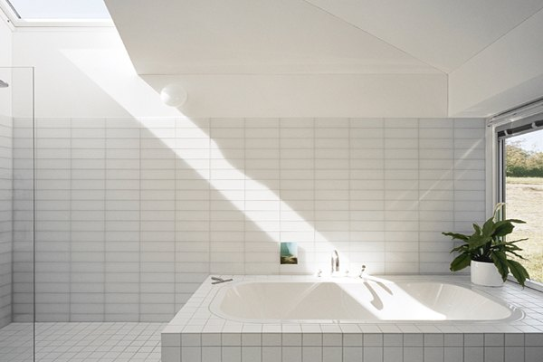 solar windows from VELUX in bathroom