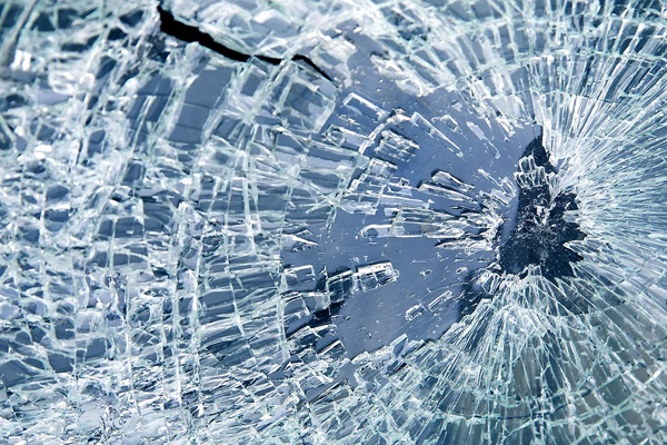 laminated glass smashed