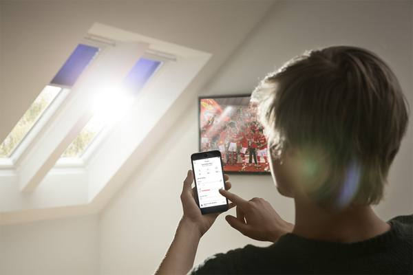 Operating electric velux blinds with VELUX ACTIVE