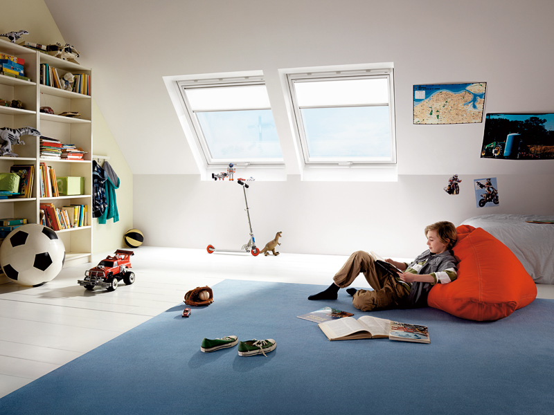 VELUX roof windows for garage extension and children's bedroom