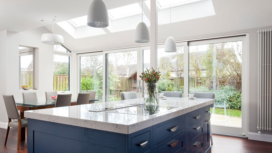 VELUX skylights for kitchen and cooking area white finish