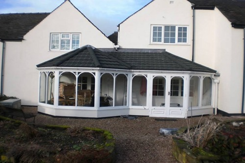 conservatory with rooflight