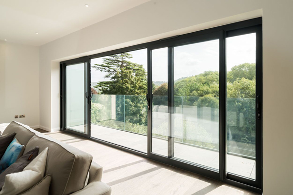 bi fold doors in living room extensions from REAL Aluminium