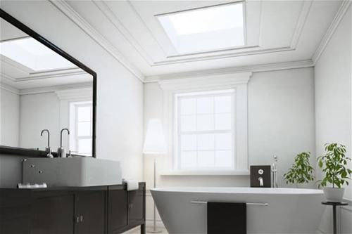En-suite bathroom extension fitted with ECO+ flat glass rooflights