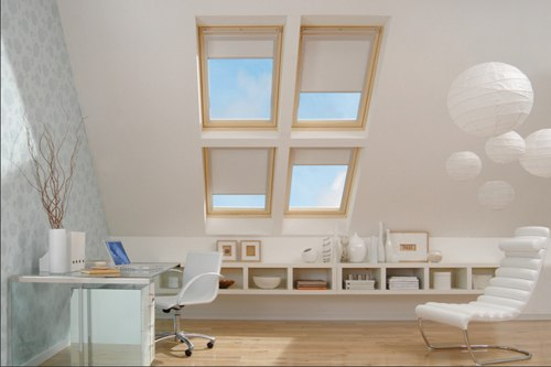 Four RoofLITE pine windows in combination in loft conversion