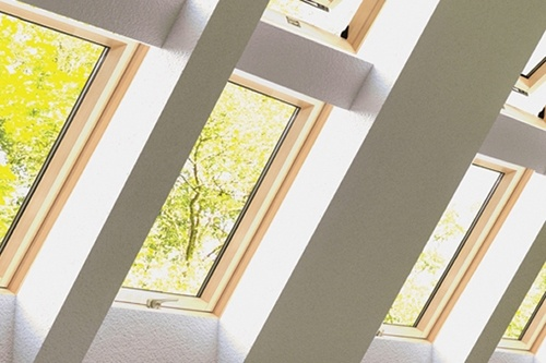 ECO+ centre pivot windows with pine finish