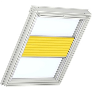 yellow energy saving pleated blinds for VELUX windows