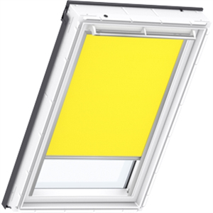 bright yellow blackout blinds for VELUX windows
