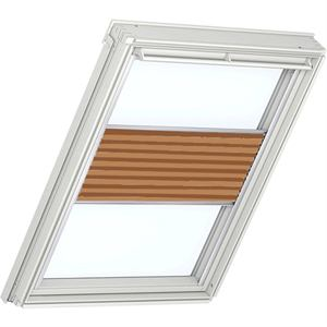 burned orange pleated blinds for VELUX windows