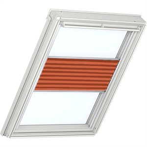 sunny orange pleated blinds for VELUX windows