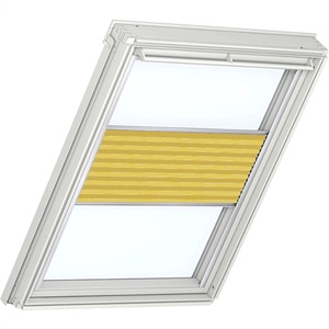 sunny yellow pleated blinds for VELUX windows