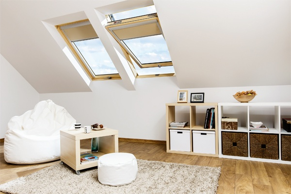FAKRO electric roof windows in loft conversion