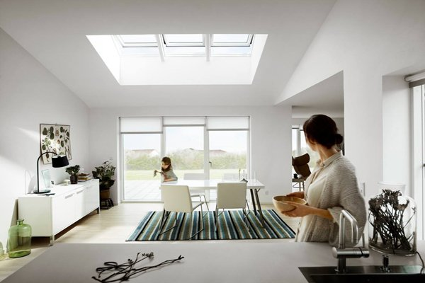VELUX INTEGRA electric white paint roof window for kitchen extensions