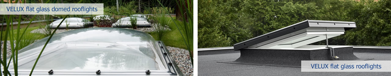 VELUX flat glass rooflights - with or without dome