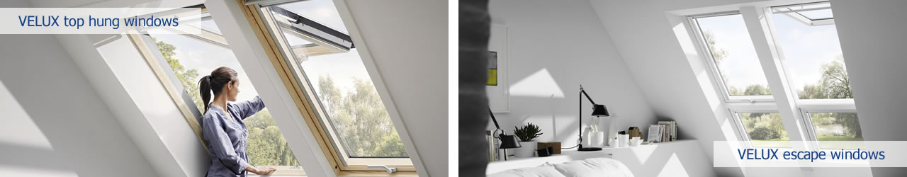 VELUX top hung windows suitable for escape requirements