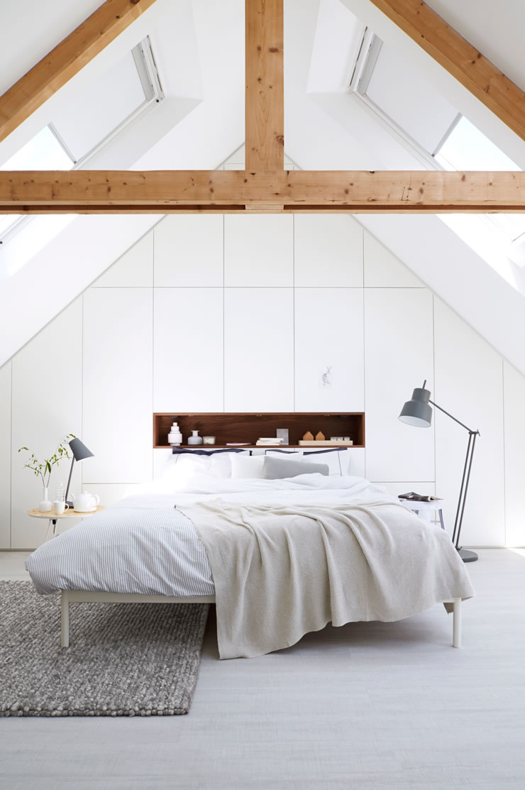 Cheap VELUX skylight windows for loft bedroom