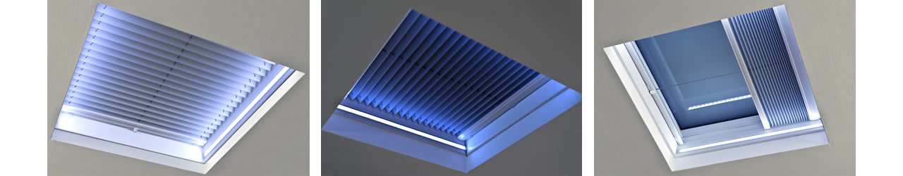 ECO+ flat glass rooflight with LED lights