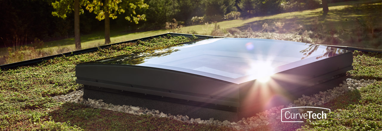 CurveTech is VELUX's innovative design that makes the newest member of their flat roof family awe-inspiring. Buy today from Sterlingbuild.