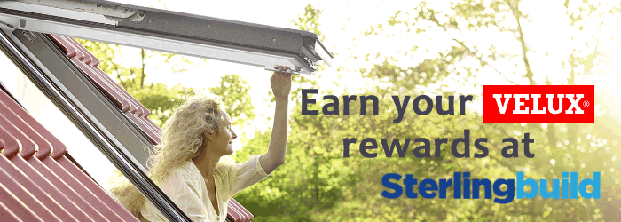 Earn VELUX Rewards at Sterlingbuild