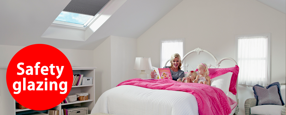 VELUX white paint windows | Safety glazing