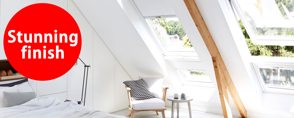 VELUX white paint windows | Stunning finish