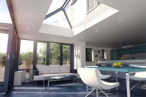 REAL Aluminium roof lantern dining room extension made to measure