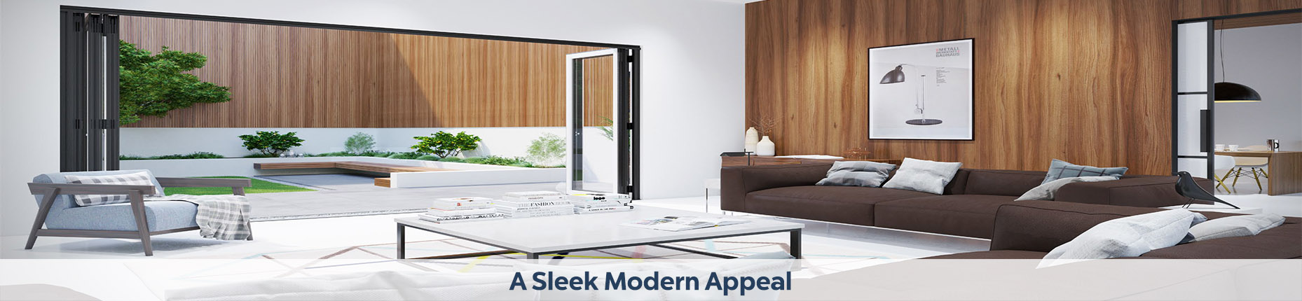 Sleek appealing bifold doors