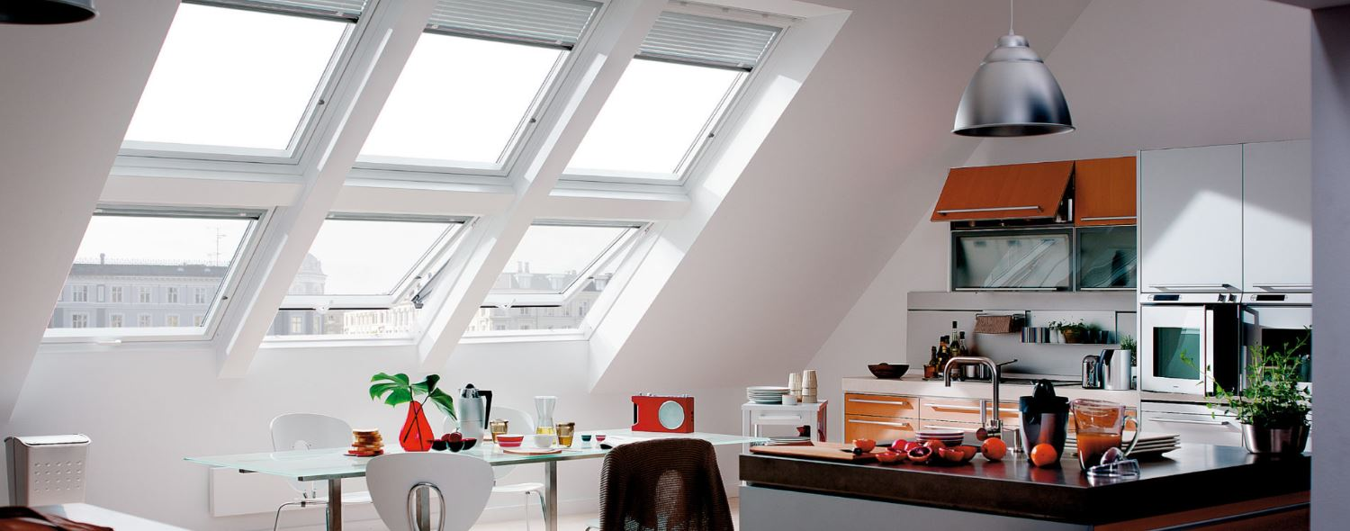 VELUX windows in kitchen